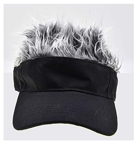 Adult Novelty Sun Visor Cap with Spiked Hairs