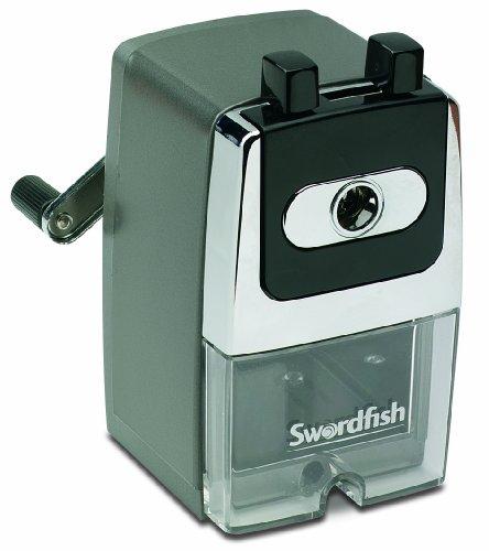 Swordfish 'Ebony 8' Desktop Manual Pencil Sharpener 8mm ref 40124 by Swordfish