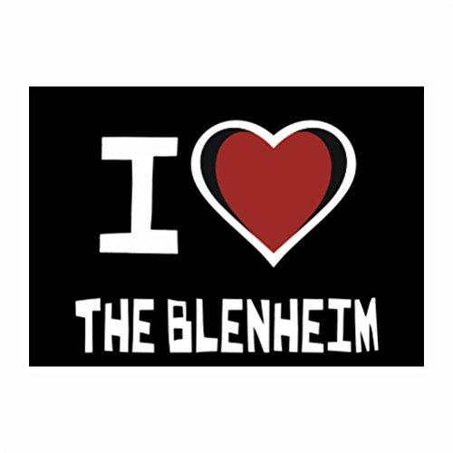Teeburon I love The Blenheim Pack of 4 Stickers