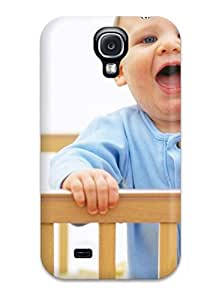 linJUN FENGTpu Case Cover For Galaxy S4 Strong Protect Case - Cute Little Babies On Crib Design