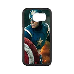 Captain America The Avengers Movie Samsung Galaxy S6 Cell Phone Case Black TPU Phone Case SV_143424