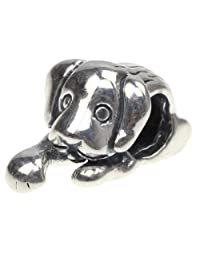 Beads Hunter 925 Sterling Silver Charms Bead Puppy Dog Fit European Bracelet Snake Chain