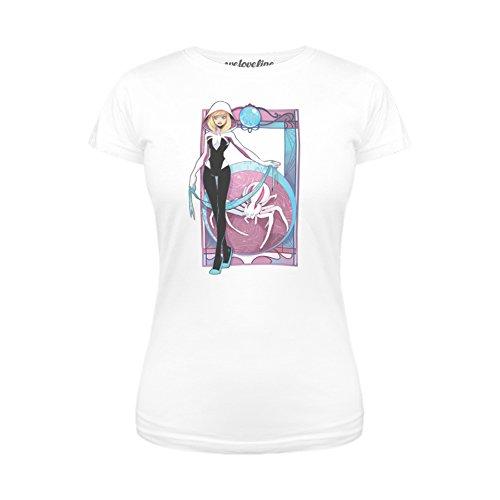 Marvel Spider-Gwen Nouveau Juniors White T-Shirt | L