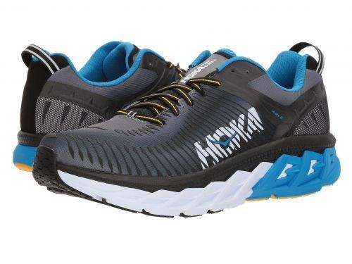 Hoka One One(ホカオネオネ) メンズ 男性用 シューズ 靴 スニーカー 運動靴 Arahi 2 - Black/Charcoal Gray [並行輸入品] B07C8L82Q8