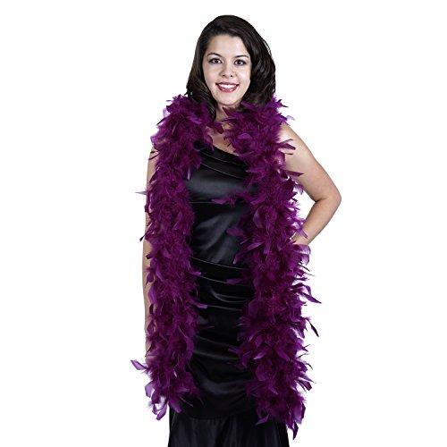 Zucker Feather Products Medium Weight Decorative Chandelle Boa, Purple