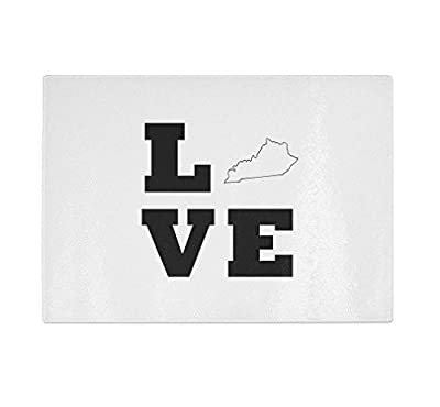 Love Kentucky Kitchen Bar Glass Cutting Board