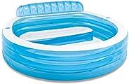 "Intex Swim Center Inflatable Family Lounge Pool, 90"" X 86"" X 31&quo"