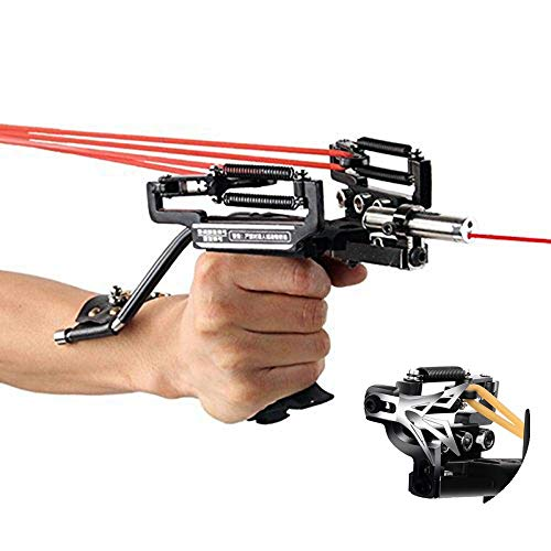 Smarty SS-40 Adjustable Spring Multi-function Powerful Stainless Hunting Laser Slingshot,Hunting Bow Sling with a Arrow Rest