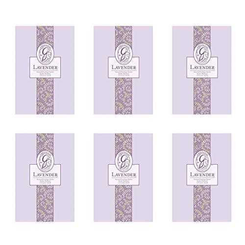 GREENLEAF Large Scented Sachet - Lavender, 6-Pack