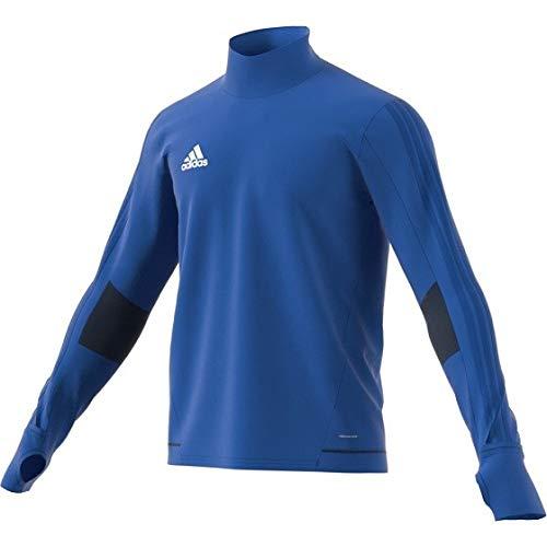 Adidas Tiro 17 Mens Soccer Training Top S Bold Blue-Black-White