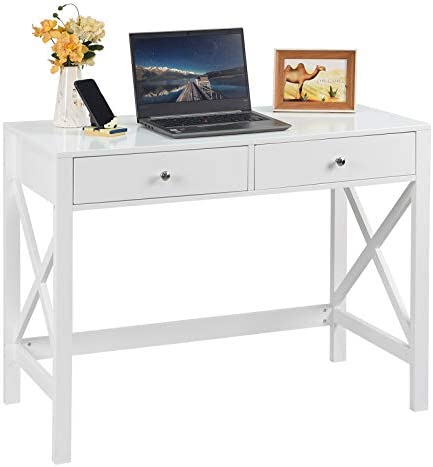 charaHOME White Home Office Desk