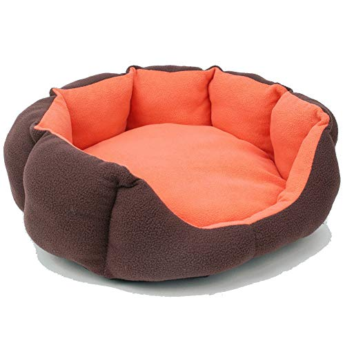 Aomomy Round Donut Pets Cushion Bed Cats or Small Dogs Self Warming Beds Super Soft Durable Fabric Pet Supplies]()