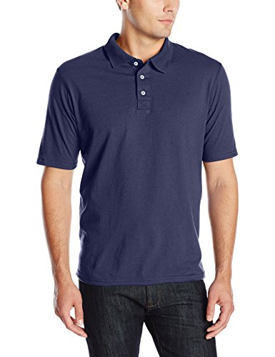 Hanes Men's X-Temp Performance Polo, Navy, X-Large