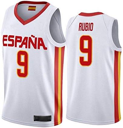 WOLFIRE WF Camiseta de España 2019, Mundial de China de Baloncesto. Llul, Gasol, Rubio. Estampado, Transpirable y Resistente al Desgaste Camiseta para Fan. Hombre: Amazon.es: Deportes y aire libre