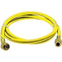 Rheem 41602 Rubber Yellow Refrigerant Hose, 5 Length, Standard Fittings, 0.25 ID, 0.500 OD