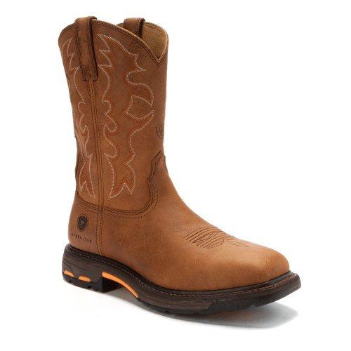 Ariat Mens Workhog Square Steel Toe Boot (10.5 D, Rugged Bark)