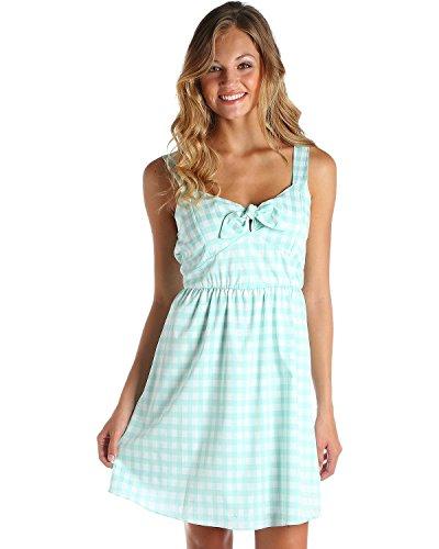 Wrangler Women's Green/White Gingham Western Dress Green - Dress Gingham Green