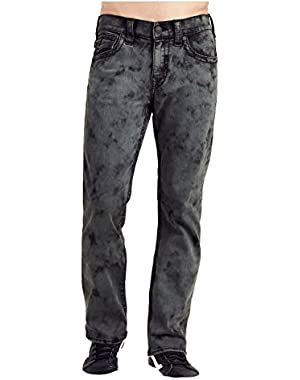 Men's Straight Leg Relaxed Fit Big T Washed Out Jeans in Grey/Army