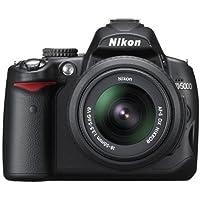 Nikon D5000 Digital SLR Camera with 18-55mm VR Lens Kit (12.3MP) 2.7 inch LCD (Renewed)