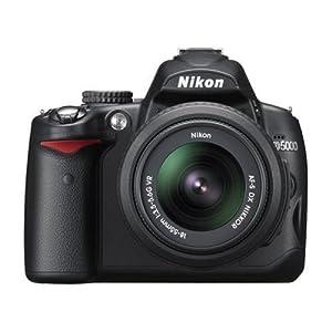 Nikon D5000 Appareil Photo numérique Reflex 12.3 Kit Objectif AF-S DX VR 18-55 mm Noir (Reconditionné Certifié)