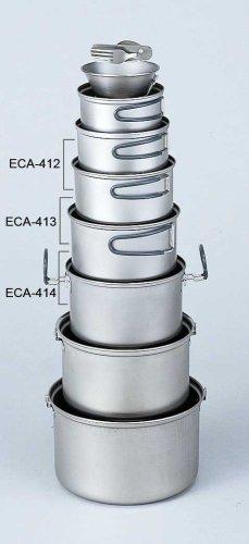 Evernew Titanium Non-Stick Pot Set M with Handle (0.9 L + 1.3 L)