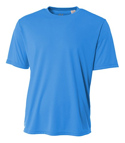 A4 Mens Cooling Performance Crew, Small, Electric Blue