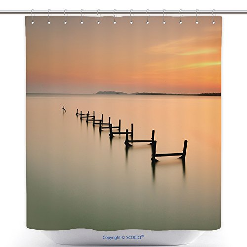 vanfan-Mildew-Resistant Shower Curtains Beautiful Nature Landscape Of Pasir Panjang Beach Pd Located In Negeri Sembilan Malaysia Long Bath Decorations Bathroom Decor Sets With Hooks(72 x 96 - Pd Is My What