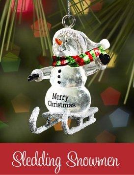 Ganz Sledding Snowman - Charles - Ornaments NEW Gifts Christmas SLX2084-GANZ