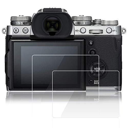 AFUNTA Screen Protectors Compatible Fujifilm X-T3 Camera, 2 Pcs Anti-Scratch Tempered Glass 9H Hardness Protective Films for DSLR Digital Camera