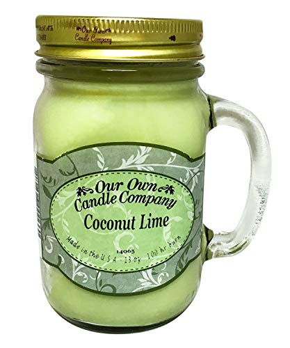 Our Own Candle Company Coconut Lime Scented 13 Ounce Mason Jar Candle
