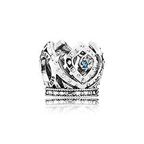 Pandore Disney elsa de Couronne avec Oxyde de Zirconium Bleu charme 791588CZB