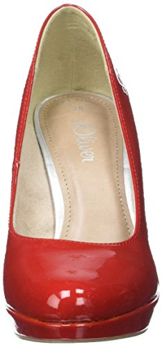 s.Oliver 22410, Sandalias con Plataforma para Mujer Rojo (CHILI PATENT 523)