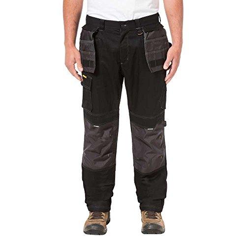 Caterpillar Men's Big and Tall H2O Defender Pant (Regular and Big & Tall Sizes), Black-Graphite, 52W x 32L