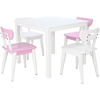 Amazon Com Max Amp Lily White Wood Kid And Toddler Square