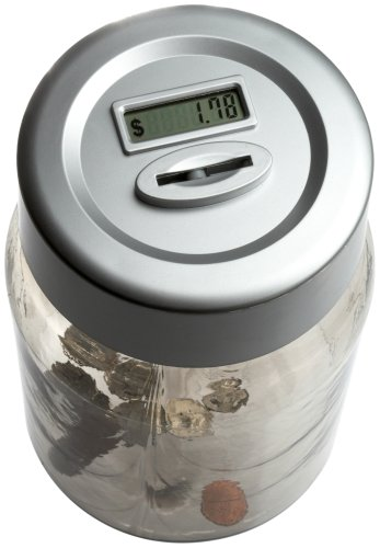 Perfect Solutions Digital Coin Counting Money Jar
