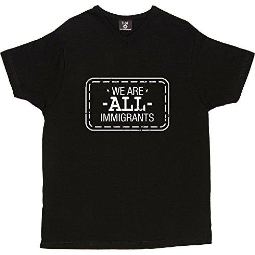 T34 - Camiseta V-Neck Black Men's T-Shirt