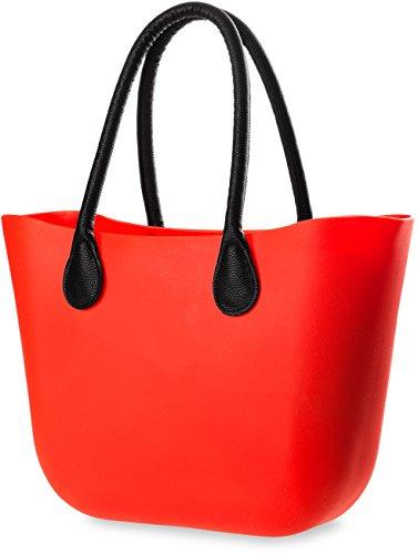 große Silikon – Tasche Strandtasche Gummi – Damen – Tasche jelly bag stilvoller Shopperbag weiß