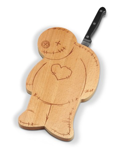 Fred OUCH! Voodoo Cutting/Serving Board and Knife Set (Voodoo Board Cutting)