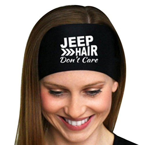 Jeep Accessories (Yoga Headband,SMYTShop Ladies Jeep hair Yoga Sweatband Gym Stretch Sports Hair Band (Black))