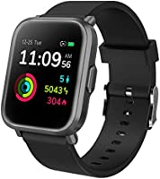 Smart Watch, Fitness Tracker Full Touch Screen Smart Watch, 5ATM Waterproof Smart Watch for Man / Woman with Heart Rate,...