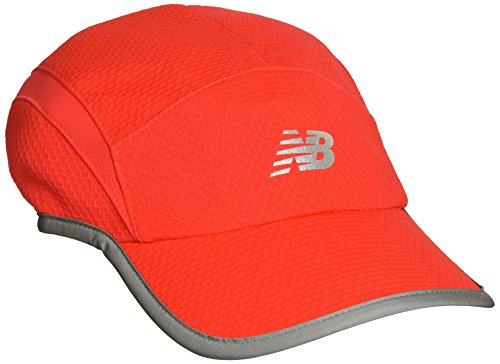 Brooks Running Hat (New Balance 5 Panel Performance Hat ,Energy Red, One Size)