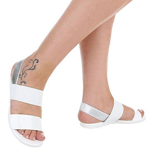 Ital-Design - Sandalias Romanas Mujer Weiß