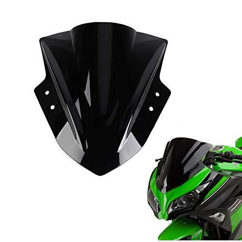 KEMIMOTO Windshield Windscreen Fits Kawasaki Ninja 300 EX300 2013 2014 2015 2016 2017 2018 Black (2013 Kawasaki Ninja 300)
