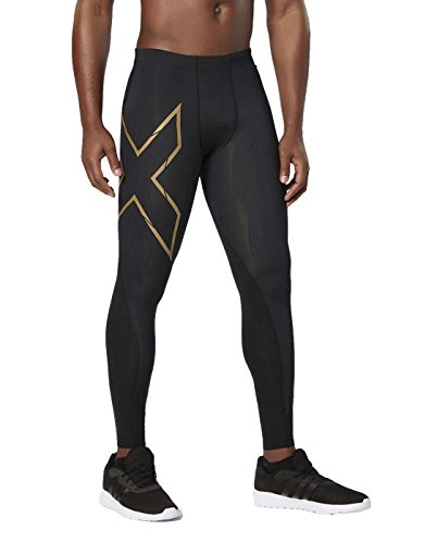 2XU Men's Elite MCS Compression Tights, Black/Gold, Medium by 2XU (Image #4)