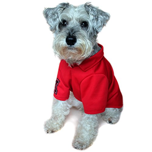 Alfie Pet - Fitch Solid Color Polo Shirt - Color: Red, Size: Small ()