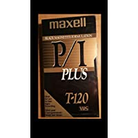 Maxell P/I Plus T-120 VHS, Pack of 10