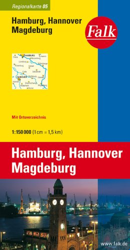 falk-regionalkarte-hamburg-hannover-magdeburg-1-150-000