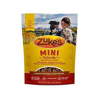 Zuke's Mini Naturals Training Dog Treats Peanut Butter and Oats Recipe - 6 Oz. Bag