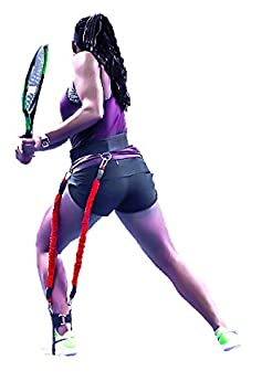 Two Specialized Bungee Cords Resistance Training System for Tennis Players 4-in-1 One Foot Strap /& Waist Belt BIG LEAGUE EDGE VeloPRO Velocity Load Harness