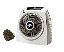 Vornado AVH10 Vortex Heater, Automatic Climate Control (Complete Set), with Premium Microfiber Cleaner Bundle